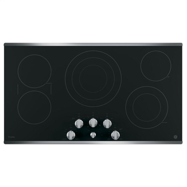 "GE Profile 36"" Built-In Knob Control Cooktop"