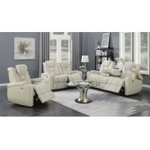 Transformers Taupe Power Leather Recliner Chair