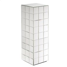 Tall Mirrored Puzzle Cube Pedestal