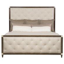Queen-Sized Clarendon Panel Bed in Arabica (377)
