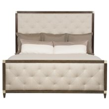 Queen-Sized Clarendon Panel Bed in Arabica (377)