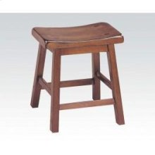 "7303 Gaucho Walnut 18"" Solid Wood Stool"