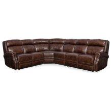 Living Room Carlisle 4-Piece Sectonal w/3 Power Recliner w/ Power Headrest