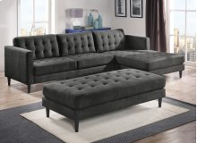 Liam Charcoal Ottoman