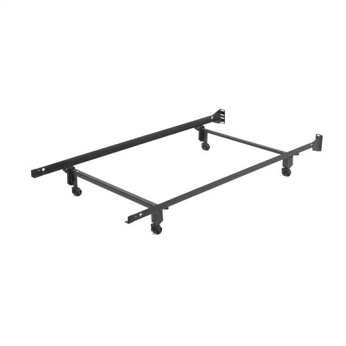 Inst-A-Matic Premium PC738R Bed Frame with Headboard Brackets and (4) 2-Inch Locking Rug Roller Legs, Powder Coat Finish, Twin