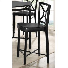 Diamond Black Counter Stool