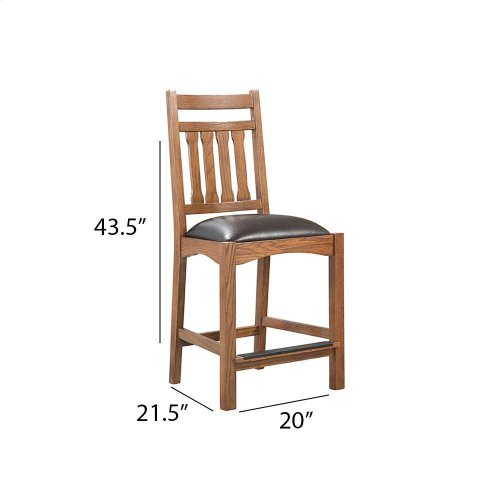 Oak Park Narrow Slat Counter Stool