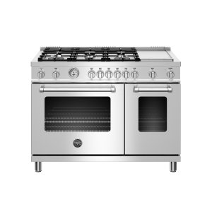 Bertazzoni48 inch All Gas Range, 6 Burner and Griddle Stainless