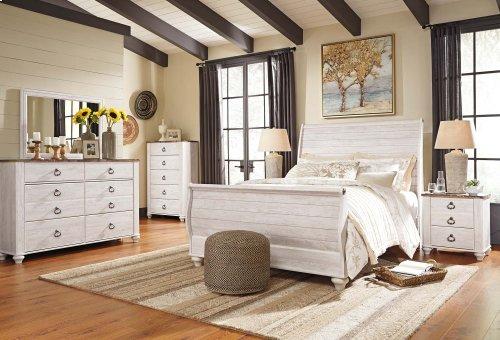 Willowton - Whitewash 3 Piece Bed Set (Queen)