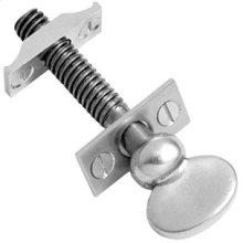 "Chrome Plate Sash screw, 3 9/16"" / 5/16"" thread"