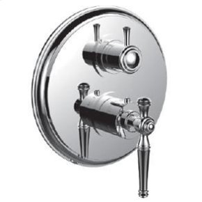 """1/2"""" Thermostatic Trim With 3-way Diverter Trim (shared Function) in Satin K Gold"""