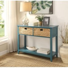 TEAL CONSOLE TABLE