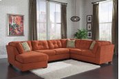 Delta City - Rust 3 Piece Sectional