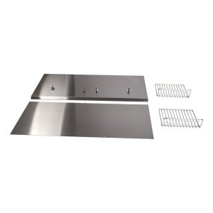 "WhirlpoolBackguard with Shelf - 48"" Stainless Steel"