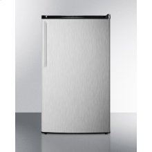 Energy Star Qualified Auto Defrost Refrigerator-freezer, With A Counter Height Black Cabinet, Stainless Steel Door, and Thin Handle