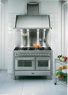 """Stainless Steel 48"""" French Top Majestic Techno Dual Fuel Range"""