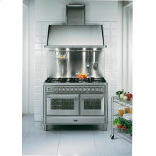 "Stainless Steel 48"" French Top Majestic Techno Dual Fuel Range"