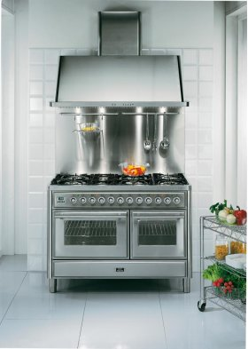 """Stainless Steel 48"""" Griddle Top Majestic Techno Dual Fuel Range"""