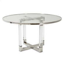 Round Dining Table W/glass Insert (2 Pc)