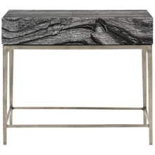 Linea Nightstand in Black Forest Marble (384)