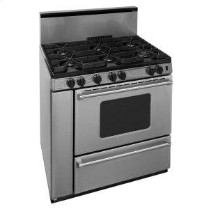 Premier36 in. ProSeries Freestanding Sealed Burner Gas Range in Stainless Steel