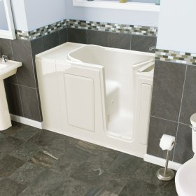 Entry Series 48x28 Inch Walk-In Bathtub with Dual Jet and Air Massage System  American Standard - Biscuit