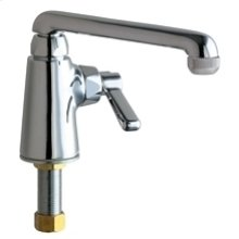 Deck-mounted manual sink faucet, single-hole, single-supply