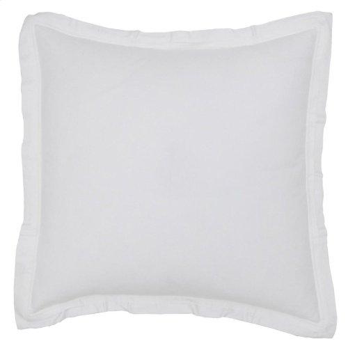 Harlow White Euro Sham 26x26
