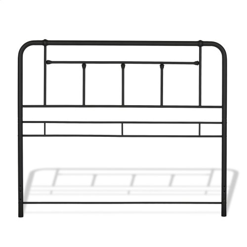 Baldwin Metal Headboard and Footboard Bed Panels with Detailed Castings, Textured Black Finish, California King
