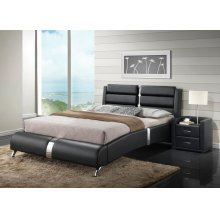Azure Black Bedroom Set
