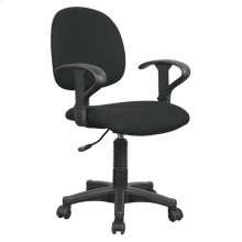BLACK FABRIC OFFICE CHAIR