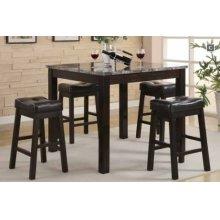 5 PC Cntr Ht Set, Table, Bar Stools
