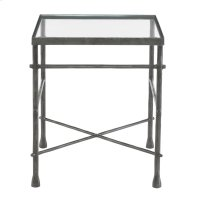 Pollard End Table Glass Top and Metal Base Product Image