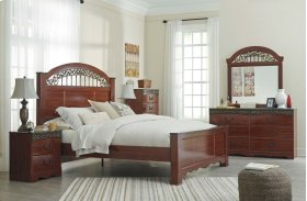 Fairbrooks Estate - Reddish Brown 3 Piece Bed Set (Queen)