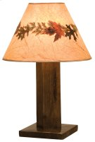 Frontier Table Lamp - Barn Brown - with Large Foliage Lamp Shade (Shade #19245-L) Product Image