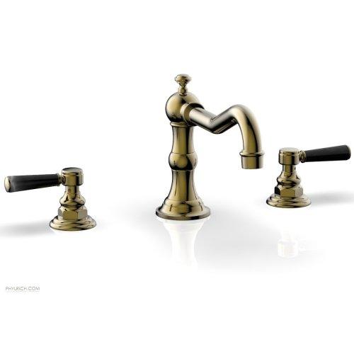HENRI Deck Tub Set - Marble Lever Handles - 161-42 - Antique Brass