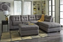 Maier LAF Sectional Sofa w/RAF Chaise - Charcoal Collection