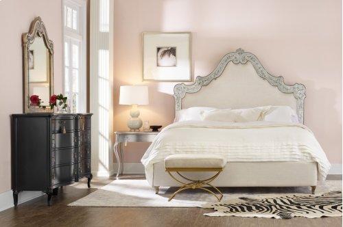 Bedroom Swirl California King Venetian Upholstered Bed