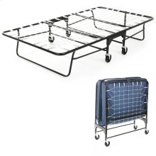 """Rollaway 455M/90 Folding Bed and 39"""" Flame Retardant Innerspring Mattress with Tubular Steel Frame and Link Deck Sleeping Surface, 39"""" x 75"""""""