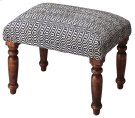 Get a leg up, or better yet two, on a comfortable and plump upholstered ottoman with substantial, turned wood legs in a casual finish. Product Image