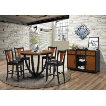 Boyer Transitional Amber and Black Dining Table