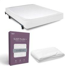 Sleep Plush StyleWrap White Fabric Box Spring Cover, Queen
