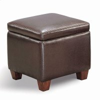 Causal Brown Storage Ottoman Product Image