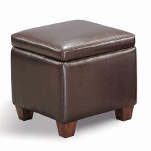 Causal Brown Storage Ottoman