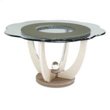 Dining Table With Shaped Glass Top