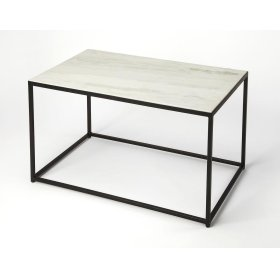 Minimalist Modern Eal Abounds From This Metal And Marble Coffee Table Bringing A Stylish Accent