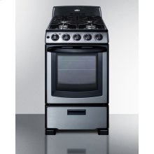 "20"" Wide Gas Range In Stainless Steel With Electronic Ignition, Oven Window, and Sealed Burners; Replaces Pro200ss"