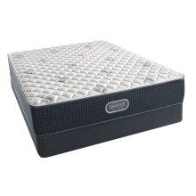 BeautyRest - Silver - Sea Glass Extra Firm - Queen 2 pc. Mattress Set