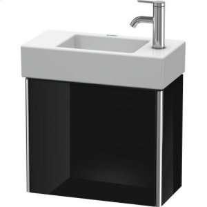 Vanity Unit Wall-mounted, Black High Gloss Lacquer