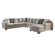Ardsley - Pewter 4 Piece Sectional Product Image